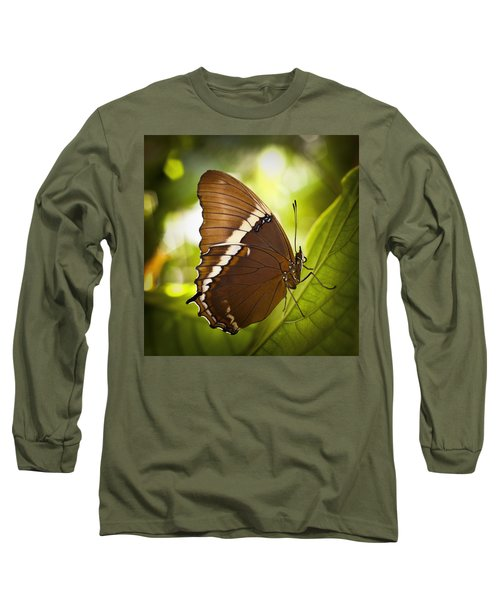 Rusty Tip Butterfly Long Sleeve T-Shirt by Bradley R Youngberg