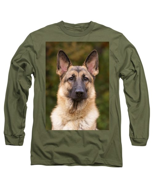 Sable German Shepherd Dog Long Sleeve T-Shirt