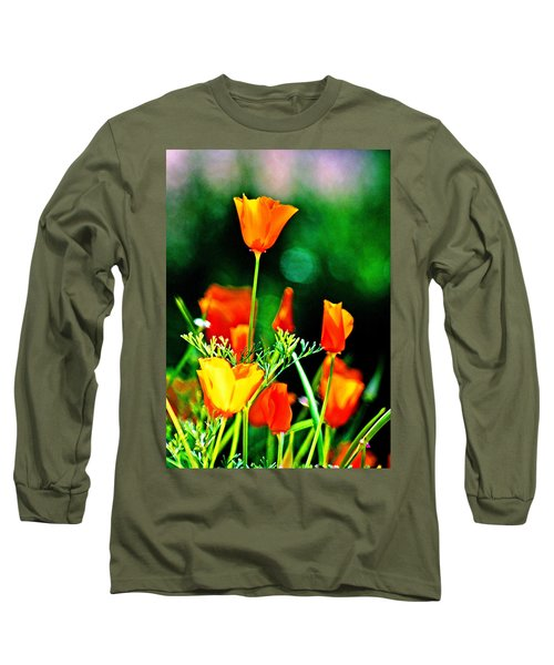 Sacramento Delta Poppies Long Sleeve T-Shirt