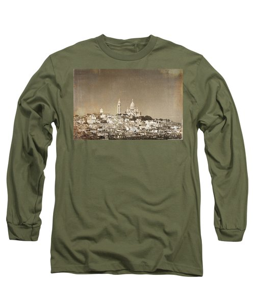 Sacre Coeur Basilica Of Montmartre In Paris Long Sleeve T-Shirt