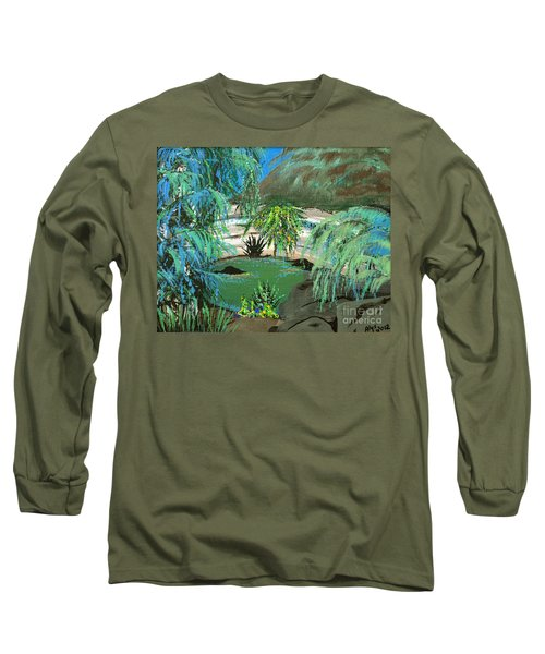 Long Sleeve T-Shirt featuring the painting Sacred Cenote At Chichen Itza by Alys Caviness-Gober