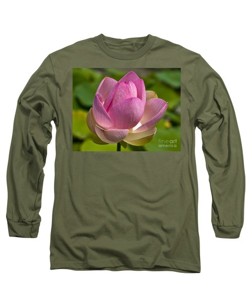 Sacred Lotus Long Sleeve T-Shirt by Lana Enderle
