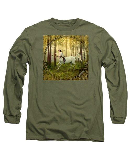 Sagittarius Long Sleeve T-Shirt by Linda Lees