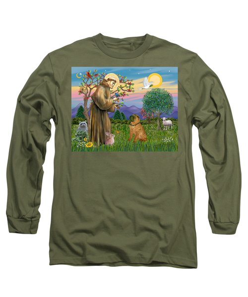 Saint Francis Blesses A Chinese Shar Pei Long Sleeve T-Shirt