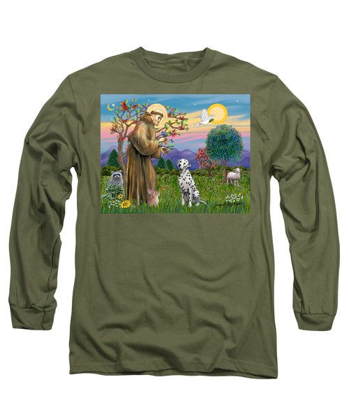 Saint Francis Blesses A Dalmatian Long Sleeve T-Shirt