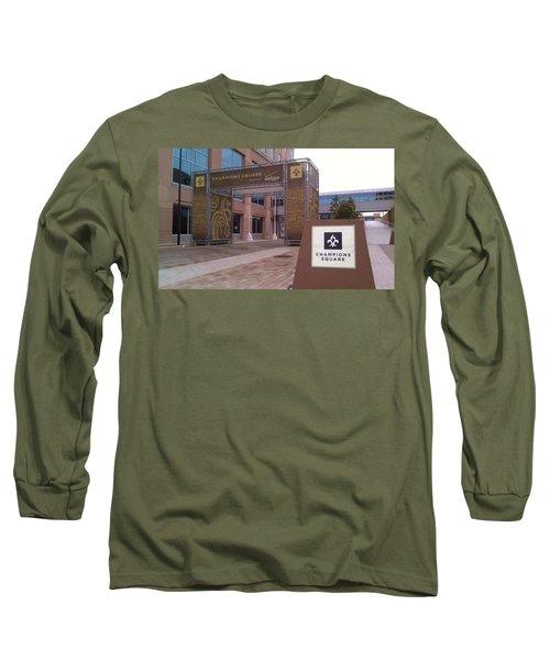 Saints - Champions Square - New Orleans La Long Sleeve T-Shirt