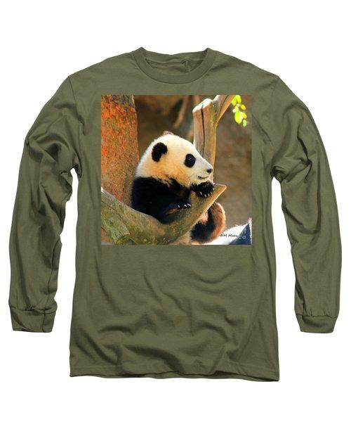 San Diego Zoo Panda Bear Xiao Liwu Long Sleeve T-Shirt
