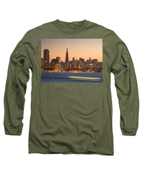 San Francisco Skyline Late Evening Long Sleeve T-Shirt