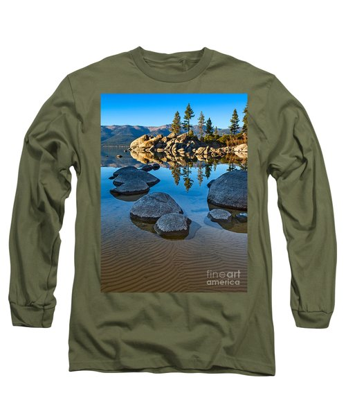Sand Harbor Ripples Long Sleeve T-Shirt