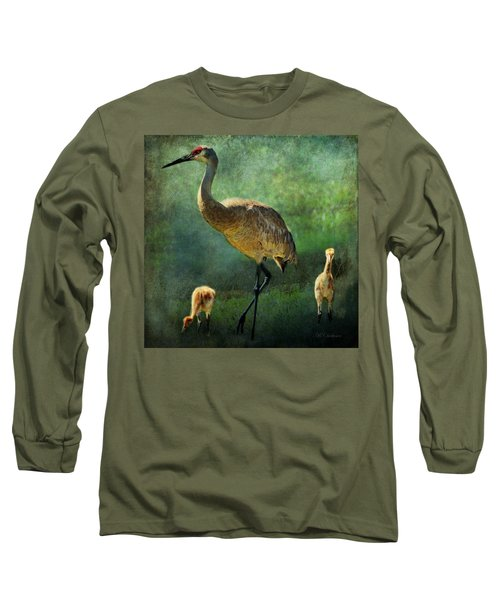 Sandhill And Chicks Long Sleeve T-Shirt