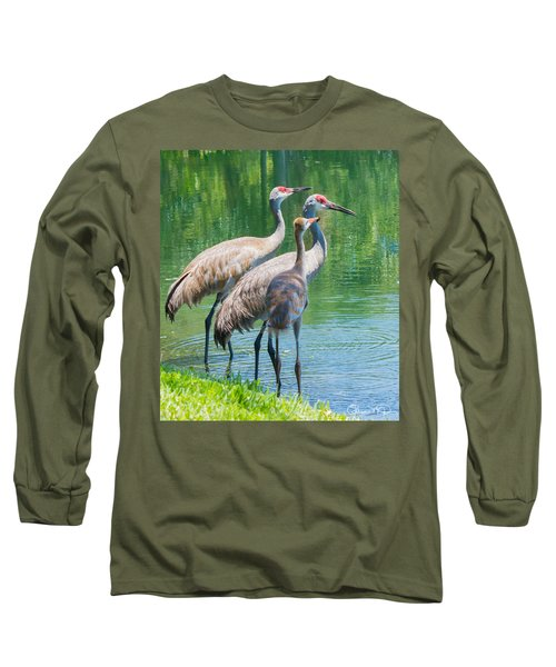 Mom Look What I Caught Long Sleeve T-Shirt by Susan Molnar
