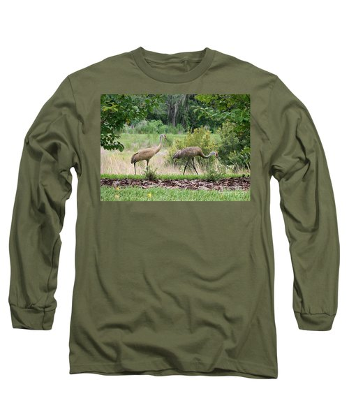 Sandhills Through The Crepe Myrtles Long Sleeve T-Shirt
