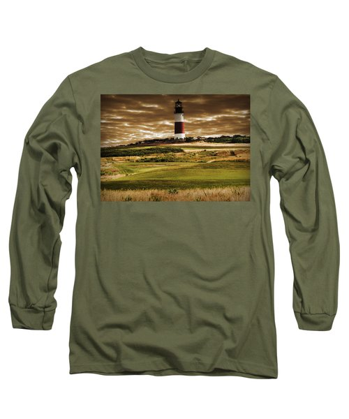 Long Sleeve T-Shirt featuring the photograph Sankaty Head Lighthouse In Nantucket by Mitchell R Grosky