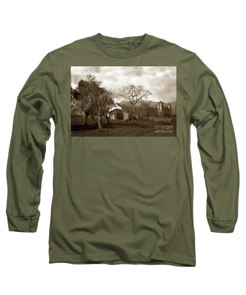 Santa Barbara Mission California Circa 1890 Long Sleeve T-Shirt