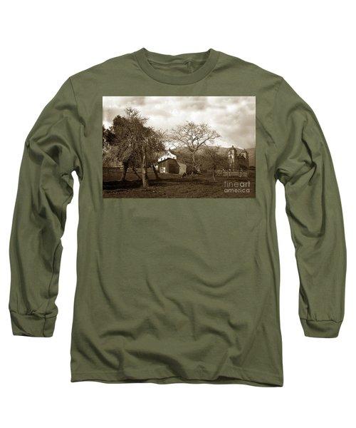 Santa Barbara Mission California Circa 1890 Long Sleeve T-Shirt