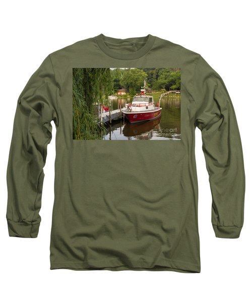 Saugatuck Fire Boat Long Sleeve T-Shirt
