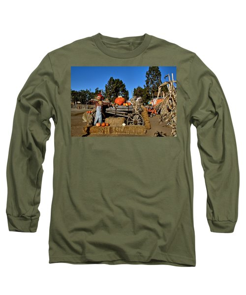 Long Sleeve T-Shirt featuring the photograph Scare Crow by Michael Gordon