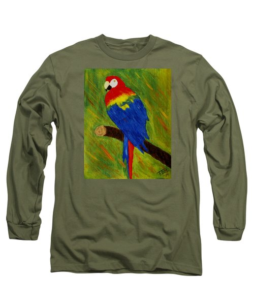 Scarlet Macaw Long Sleeve T-Shirt