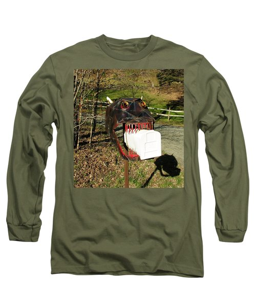 Long Sleeve T-Shirt featuring the photograph Scary Mailbox 2 by Sherman Perry