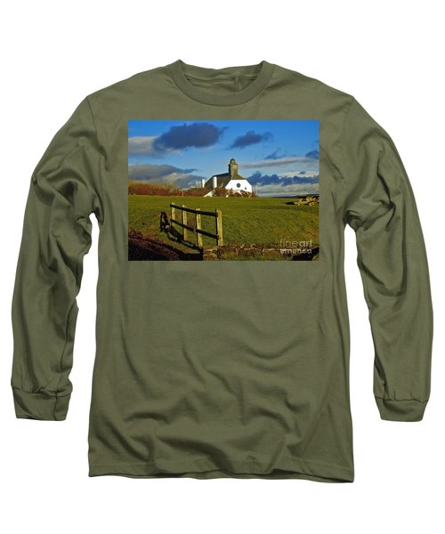 Long Sleeve T-Shirt featuring the photograph Scene From Giants Causeway by Nina Ficur Feenan