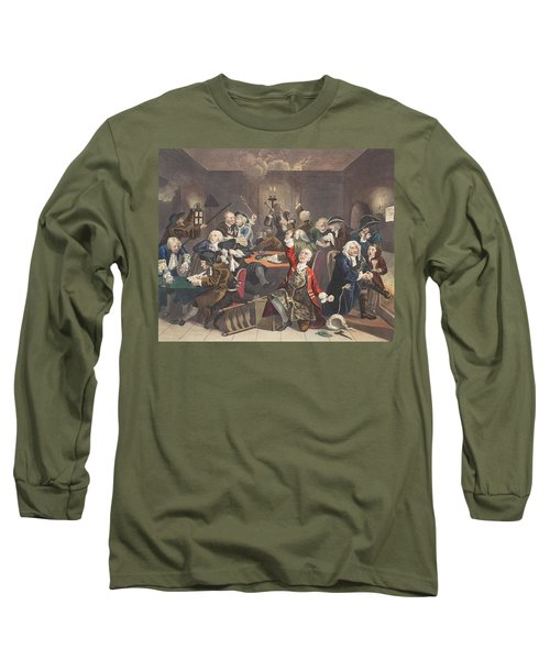 Scene In A Gaming House, Plate Vi Long Sleeve T-Shirt