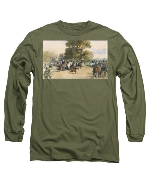 Scene In Hyde Park Long Sleeve T-Shirt