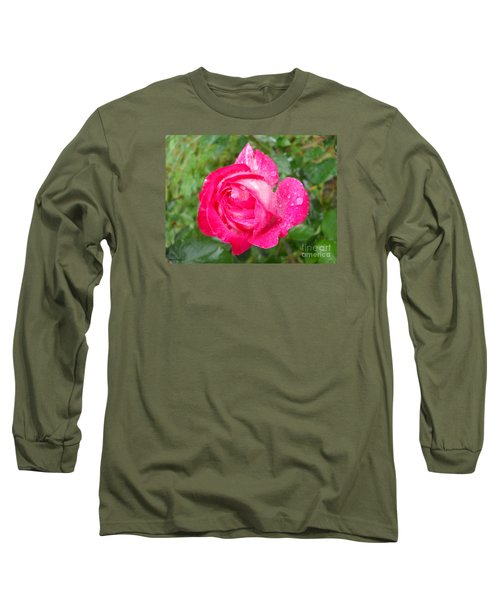 Long Sleeve T-Shirt featuring the photograph Scented Rose by Ramona Matei