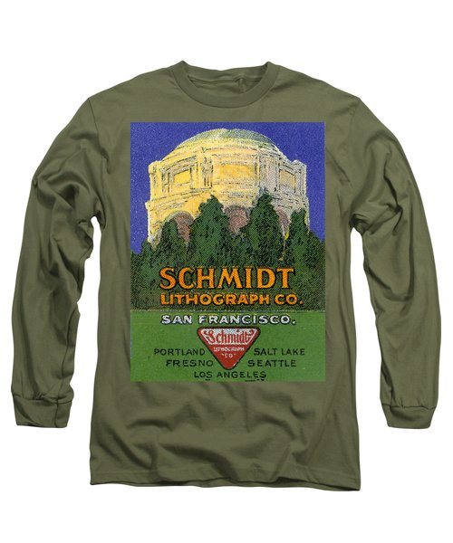 Schmidt Lithograph  Long Sleeve T-Shirt by Cathy Anderson