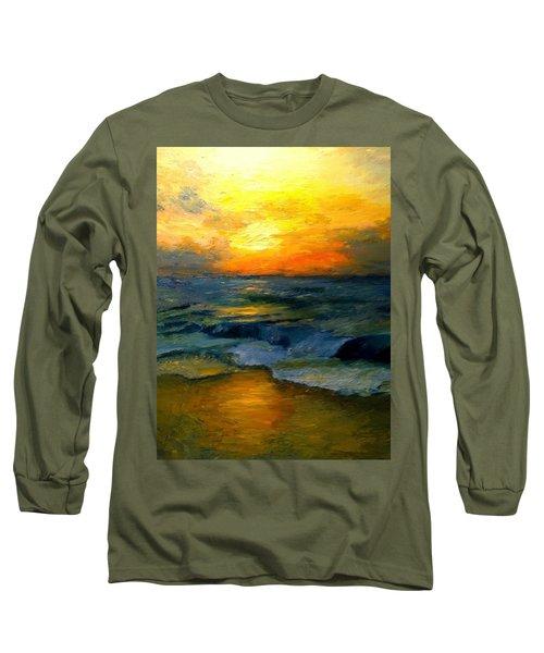 Seaside Sunset Long Sleeve T-Shirt by Gail Kirtz