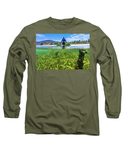 Seaweed Farm. Sumbawa. Indonesia Long Sleeve T-Shirt