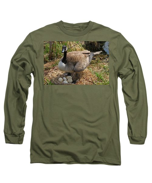 Long Sleeve T-Shirt featuring the photograph See My Eggs by Elizabeth Winter