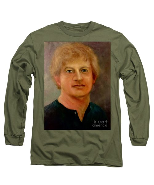 Long Sleeve T-Shirt featuring the painting Self Portrait by Randol Burns