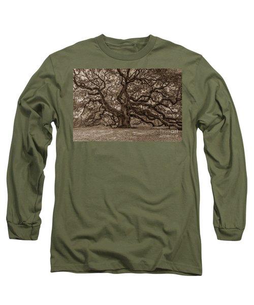 Sepia Angel Oak Long Sleeve T-Shirt
