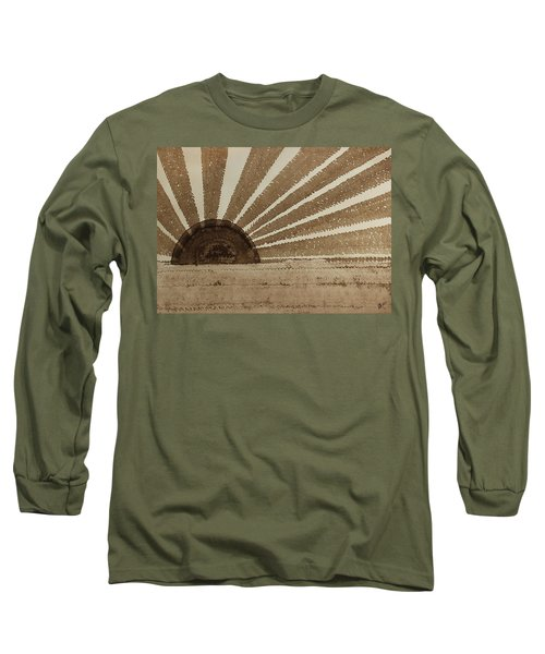 Sepia Sunset Original Painting Long Sleeve T-Shirt by Sol Luckman