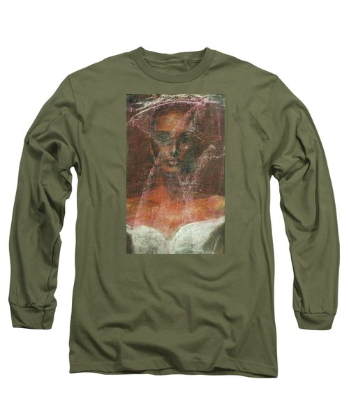 Long Sleeve T-Shirt featuring the painting Serious Bride Mirage  by Jarmo Korhonen aka Jarko