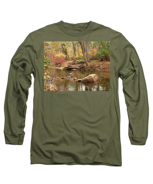 Long Sleeve T-Shirt featuring the photograph Shades Of Fall In Ridley Park by Patrice Zinck