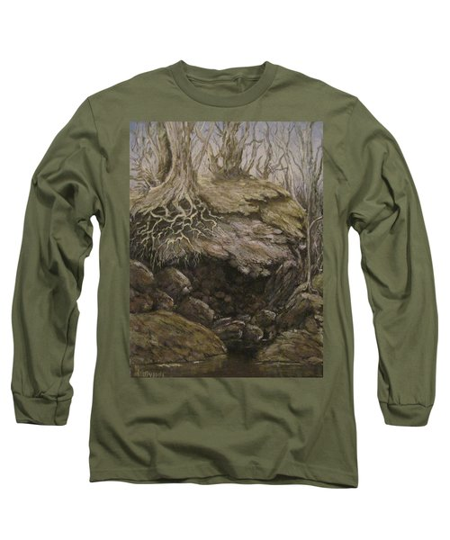 Long Sleeve T-Shirt featuring the painting Shades Of Froud by Megan Walsh