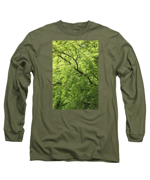 Long Sleeve T-Shirt featuring the photograph Shades Of Green by Amy Gallagher