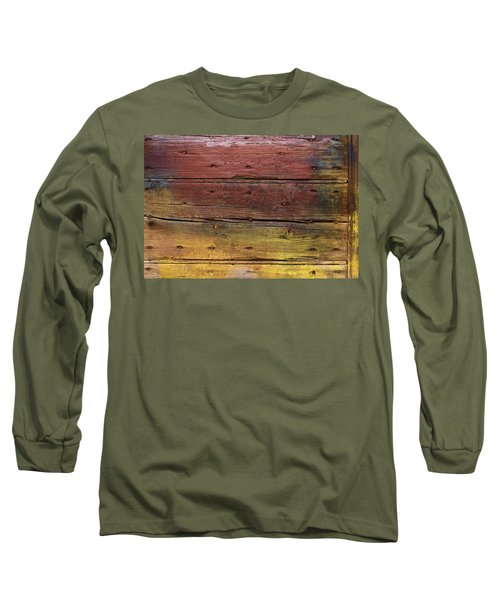 Shades Of Red And Yellow Long Sleeve T-Shirt by Ron Harpham