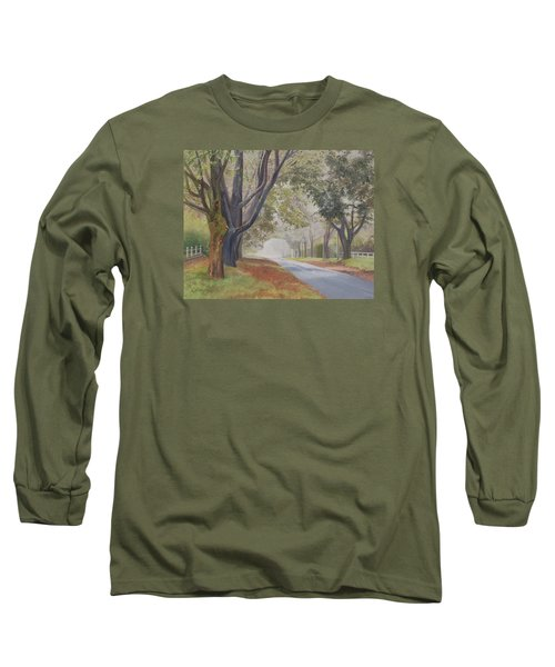 Shadow And Fog Down Beautiful Atlantic Avenue Long Sleeve T-Shirt by Barbara Barber