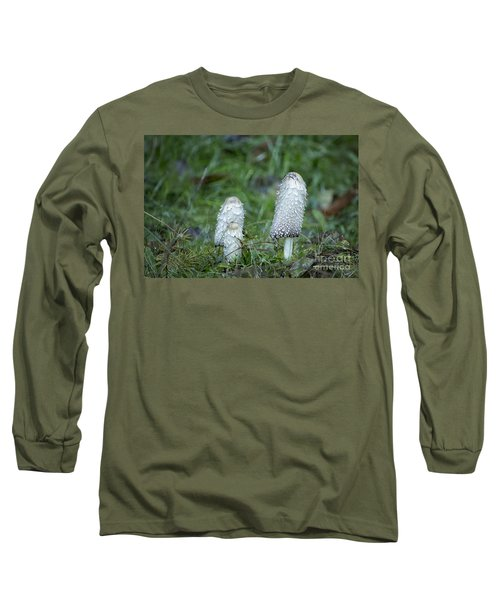 Shaggy Cap Mushroom No. 3 Long Sleeve T-Shirt by Belinda Greb