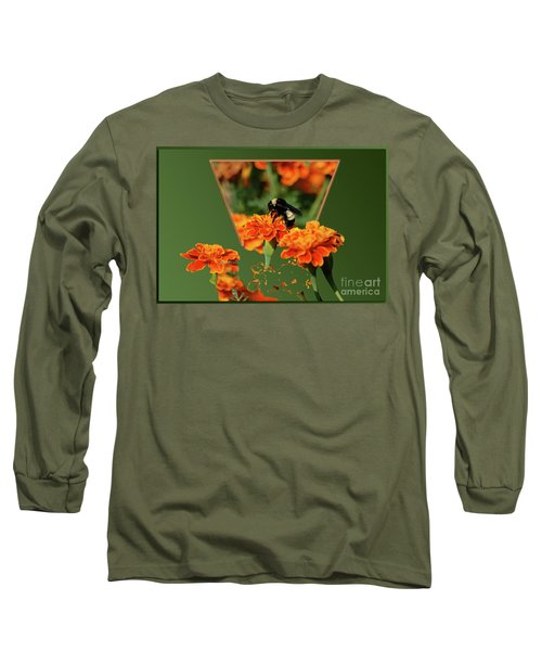 Long Sleeve T-Shirt featuring the photograph Sharing The Nectar Of Life by Thomas Woolworth