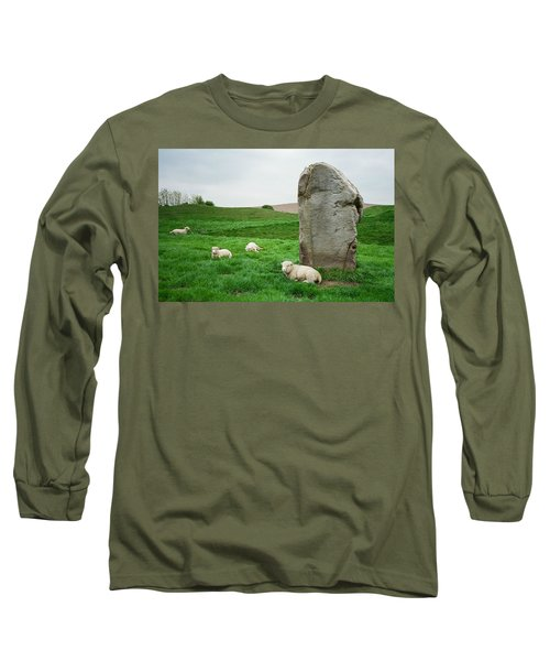Sheep At Avebury Stones - Original Long Sleeve T-Shirt