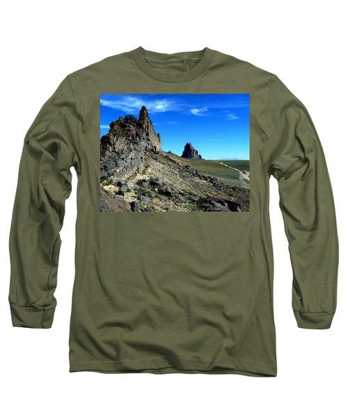 Long Sleeve T-Shirt featuring the photograph Shiprock by Alan Socolik