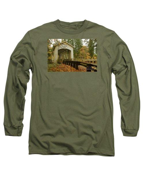 Short Covered Bridge Long Sleeve T-Shirt