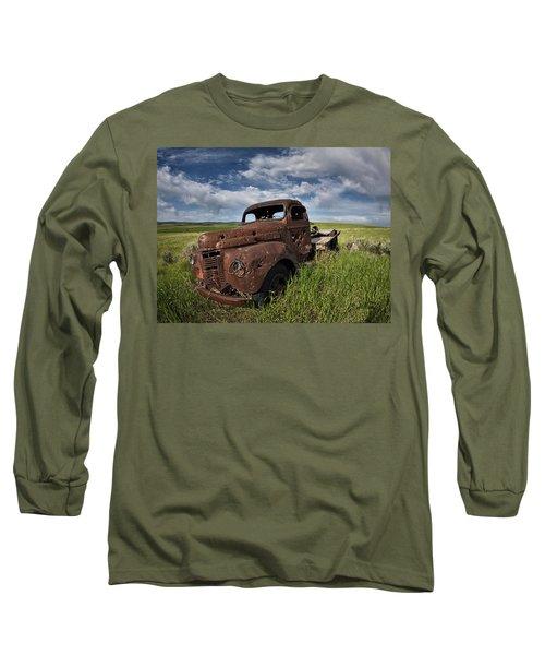 Shot Up Long Sleeve T-Shirt by Leland D Howard