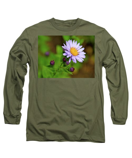 Showy Aster Long Sleeve T-Shirt by Ed  Riche