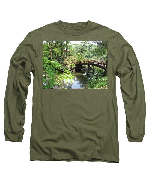 Shukkeien Bridge Long Sleeve T-Shirt