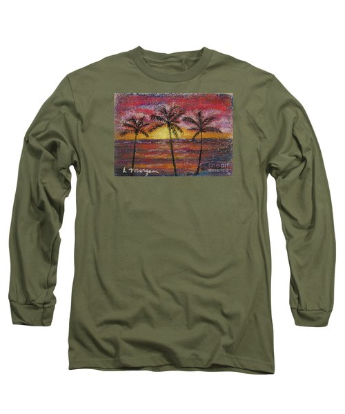 Island Silhouette  Long Sleeve T-Shirt