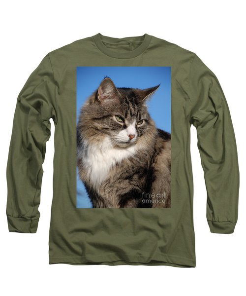 Silver Tabby Cat Long Sleeve T-Shirt